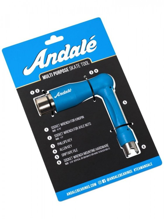 Ключ для скейтборда ANDALE All Purpose Tool Blue  2020