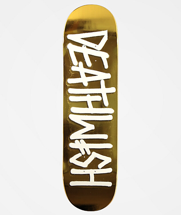 Дека для скейтборда DEATHWISH Deathspray Deck Gold White 8.25 дюйм
