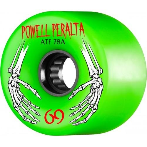 Колеса для скейтборда для cкейтборда POWELL PERALTA All Terrain Green 69  мм 2020