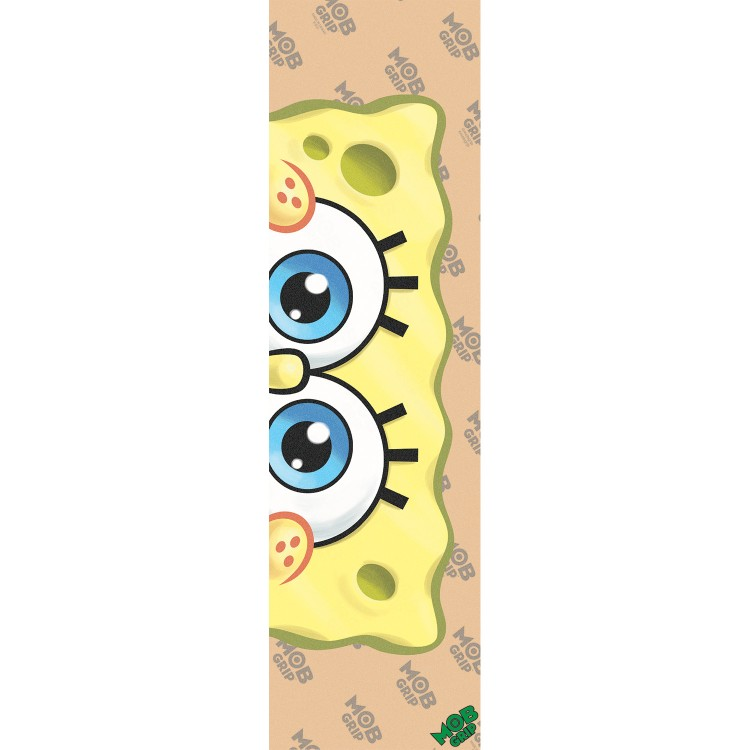 Шкурка для скейтборда MOB GRIP SpongeBob SquarePants Eyeballs CLEAR Grip Tape